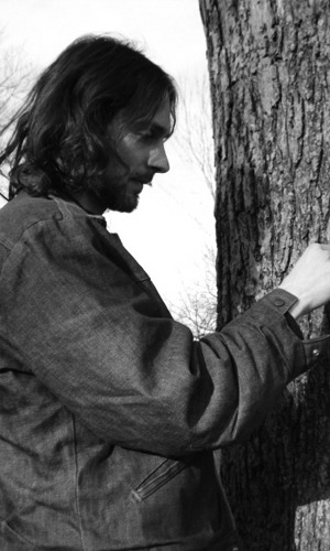 He makes art from trees.