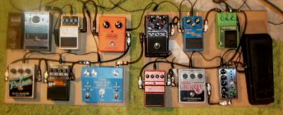 It takes a serious pedal board to make music like this happen.