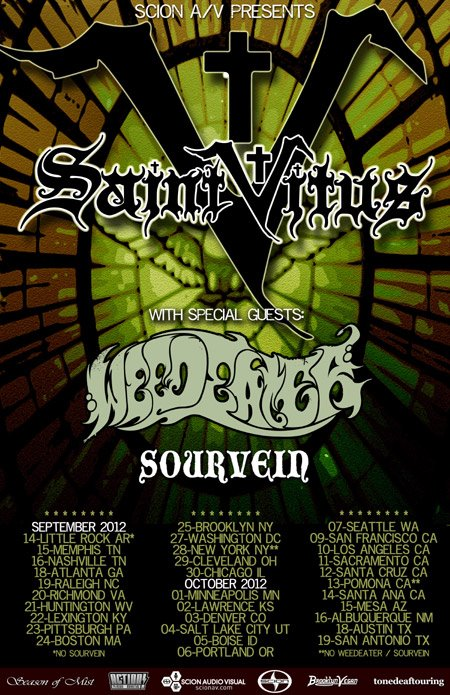 Saint Vitus Announce Tour With Weedeater And Sourvein