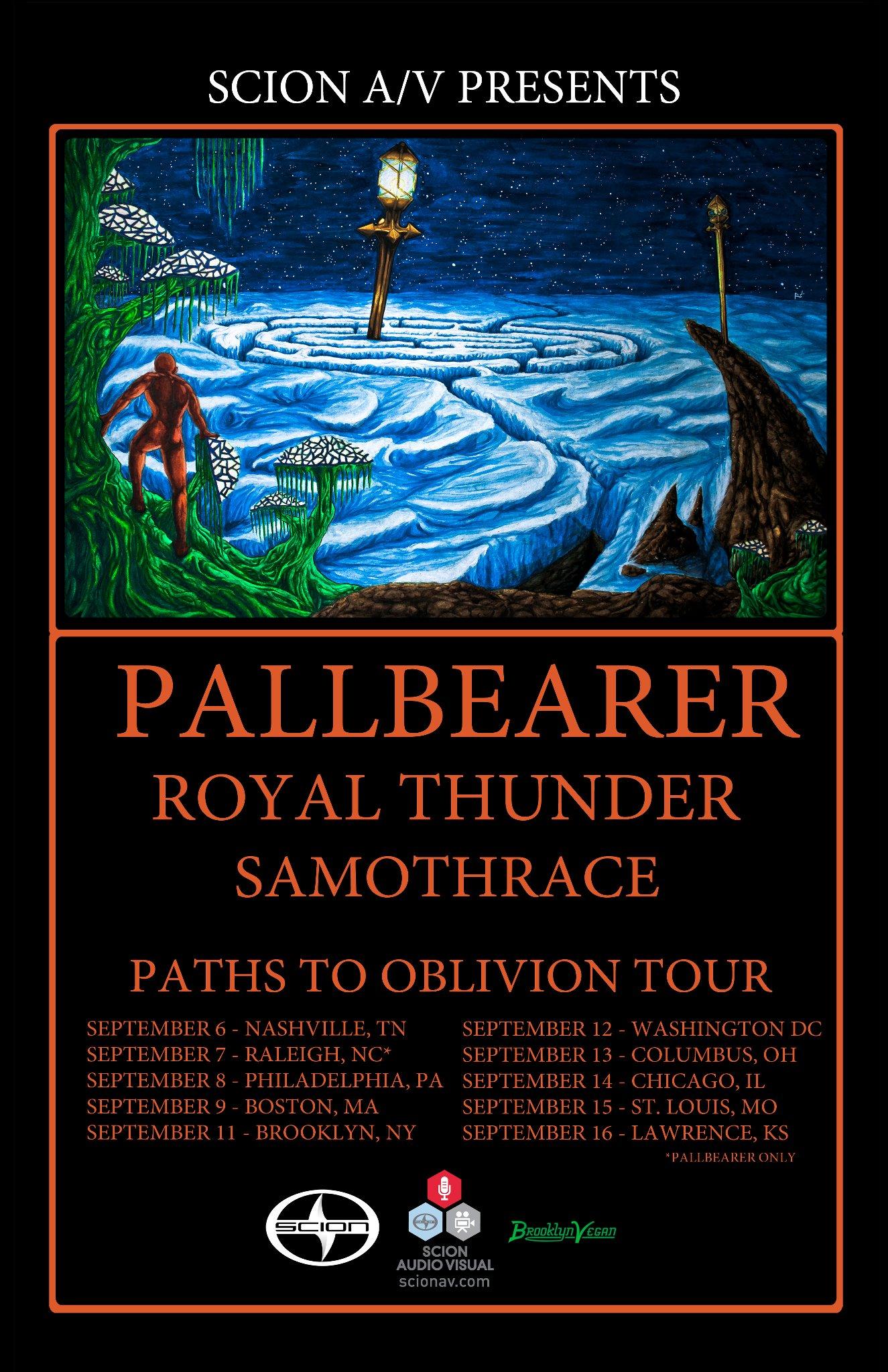 Pallbearer Tour Poster