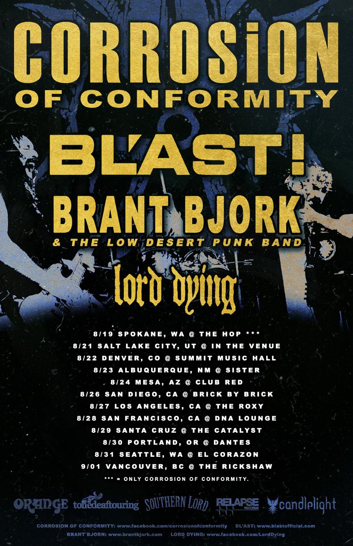 Coc tour dates in Sydney