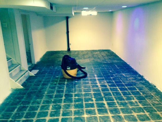 Thee basement.