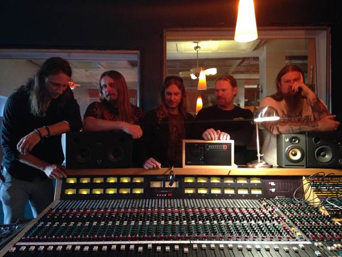 enslaved in studio