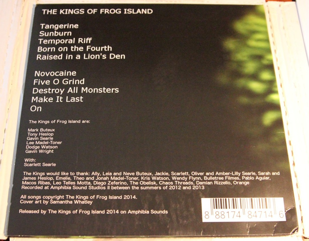 the kings of frog island v back cover