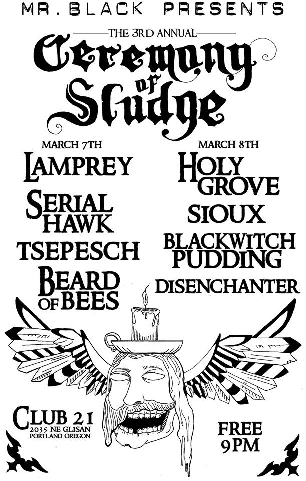 ceremony of sludge poster