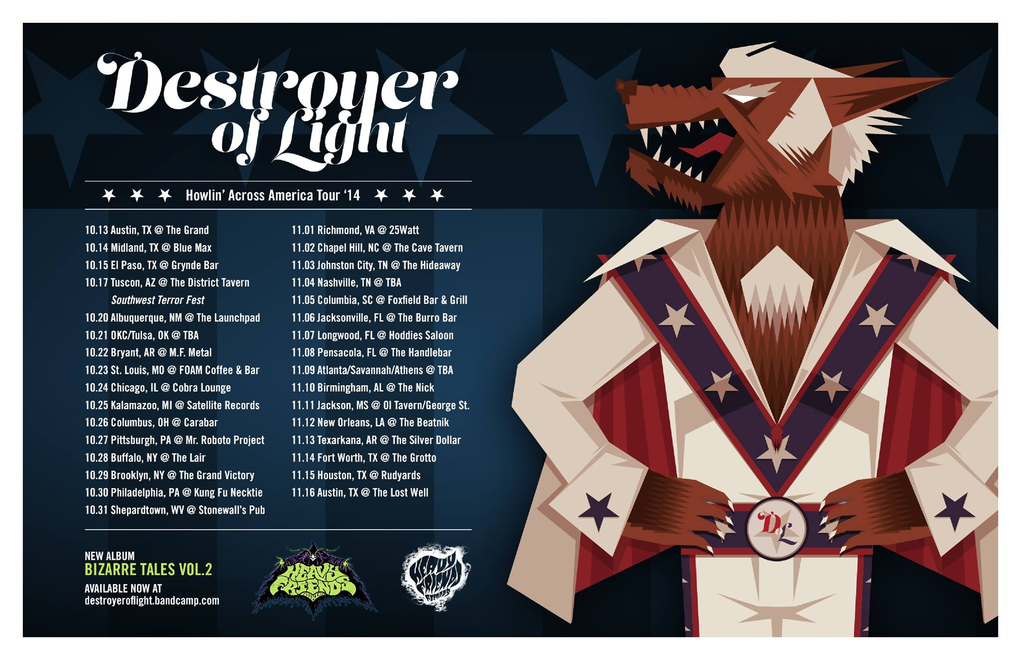 destroyer of light howlin across america tour