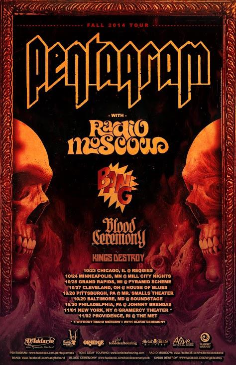 pentagram bang radio moscow kings destroy tour poster