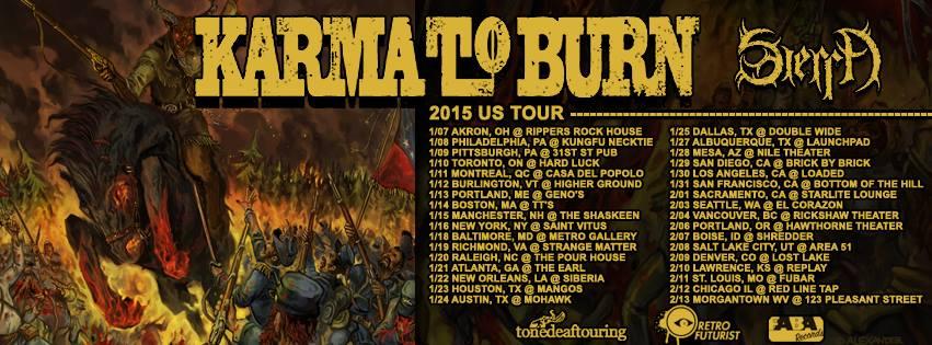 karma to burn tour