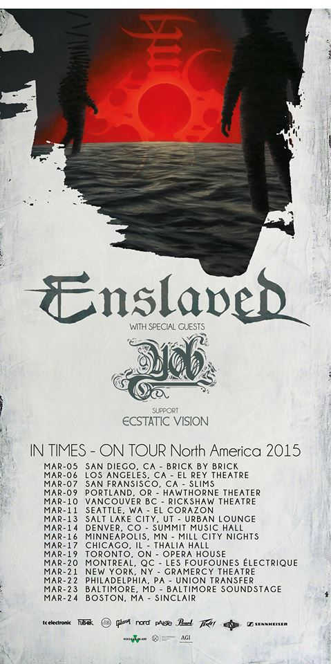 enslaved yob ecstatic vision tour