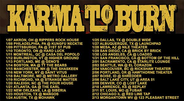Karma To Burn Tour Dates