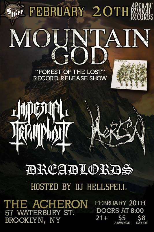 mountain god release show poster