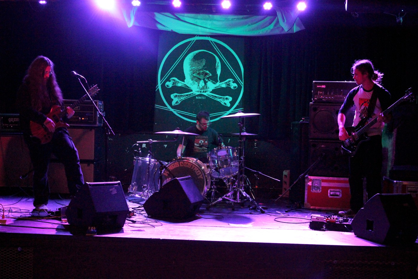 yob soundcheck (Photo by JJ Koczan)