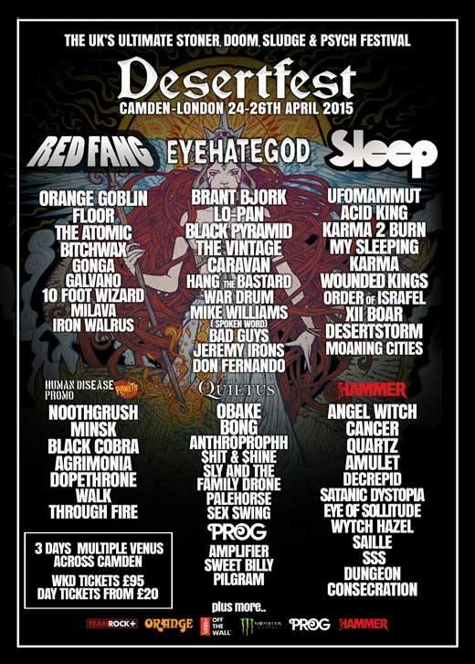 desertfest london 2015 poster