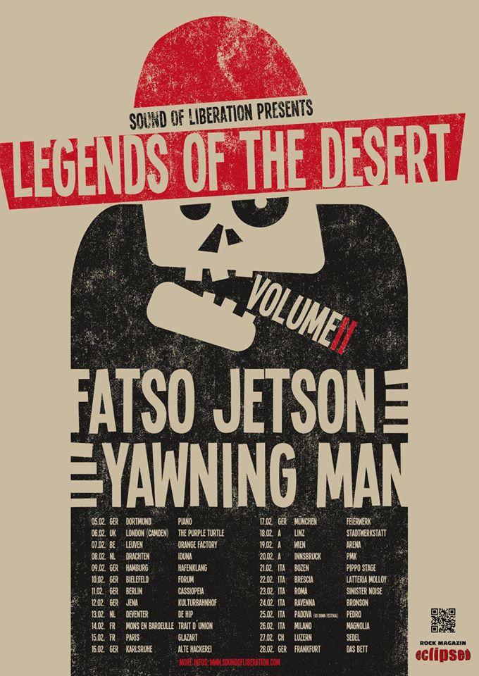 fatso jetson yawning man tour poster