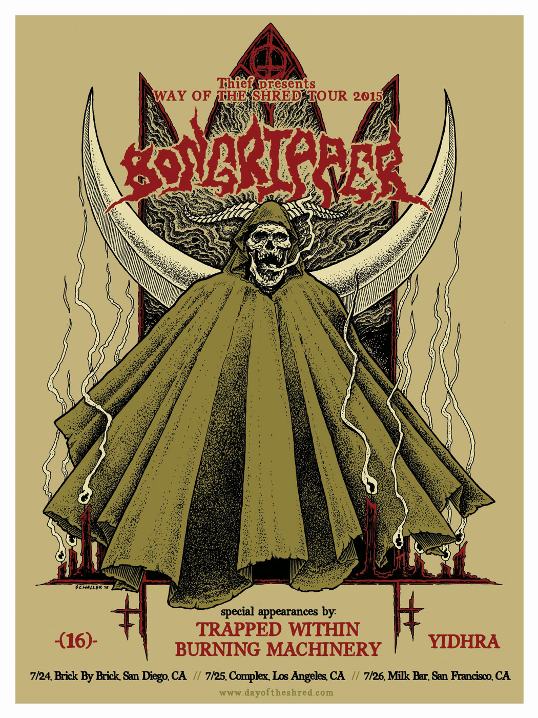 bongripper-way-of-the-shred-tour-poster