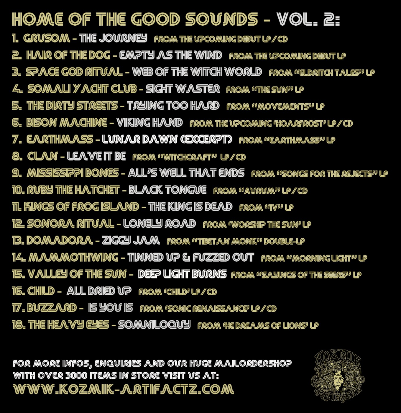 home of the good sounds vol 2 back