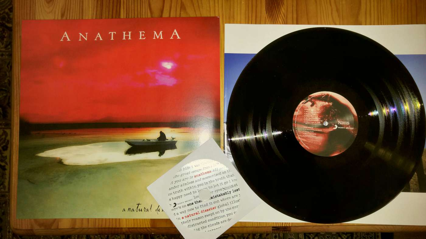 anathema a natural disaster cover and lp