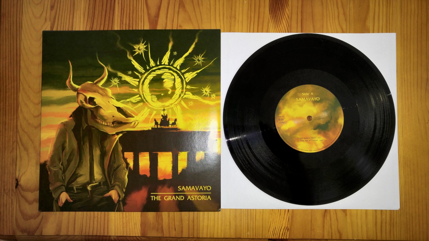 samavayo the grand astoria split 10 inch cover and record