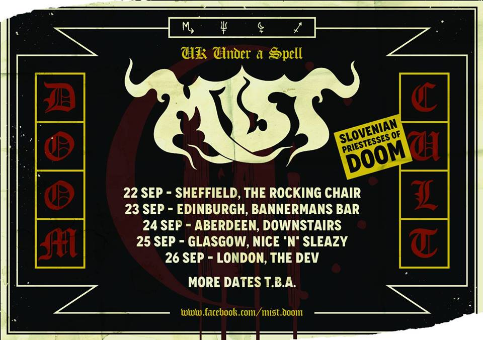 mist tour poster