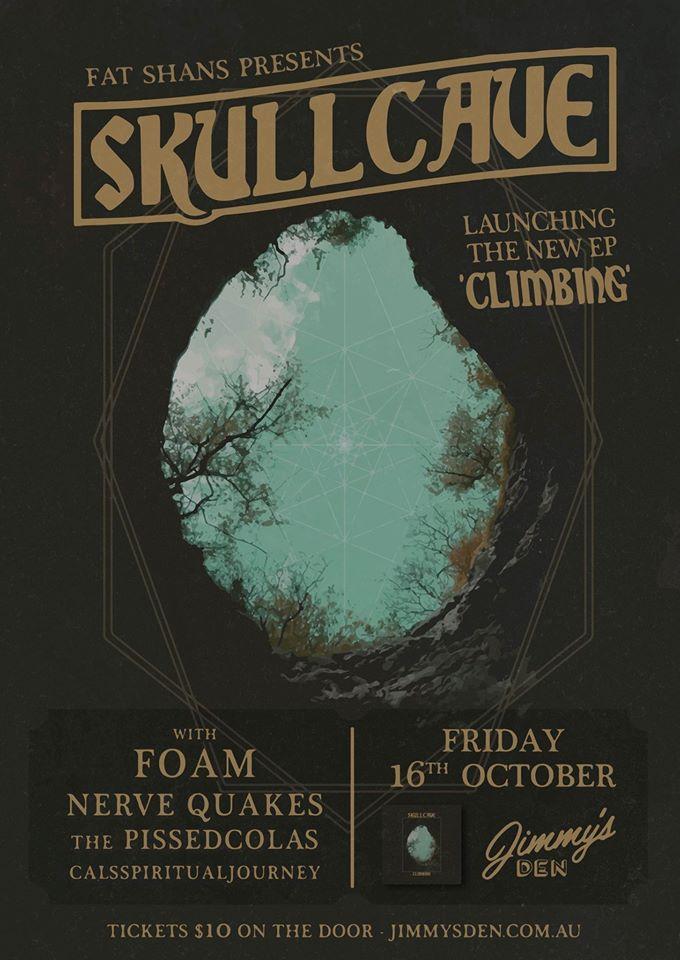 skullcave release show flyer