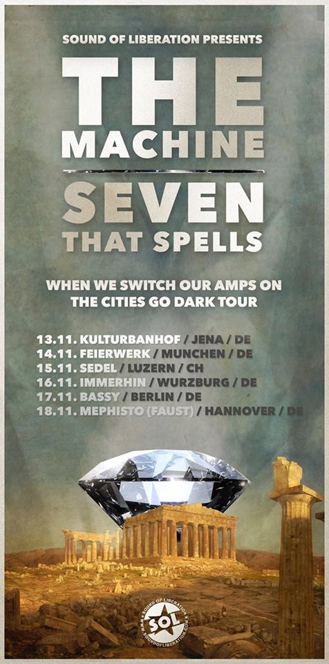 the machine seven that spells tour