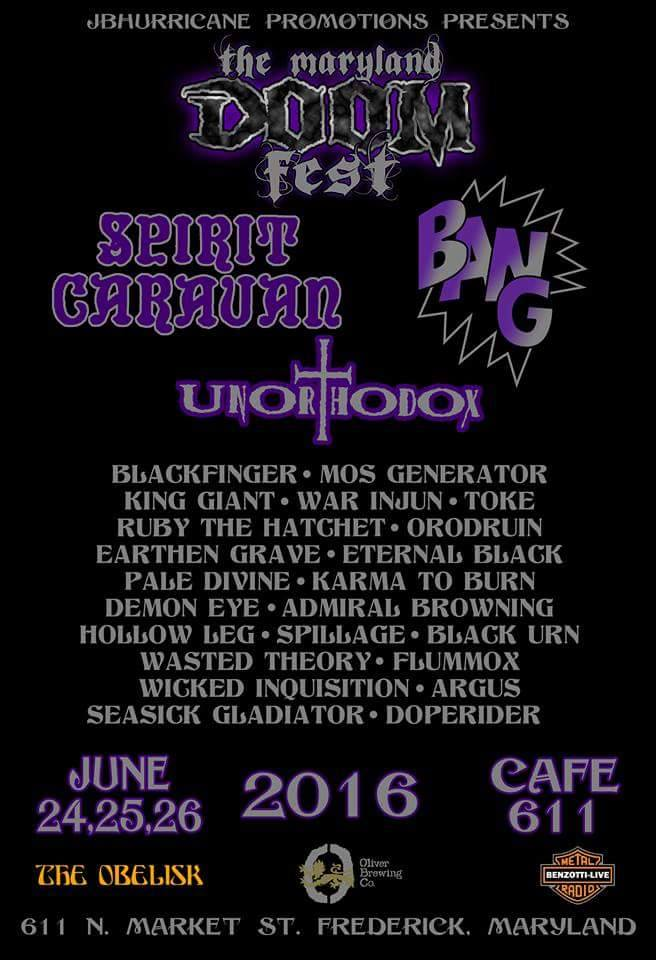 maryland doom fest 2016