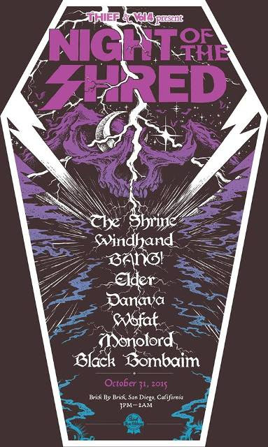 night of the shred poster