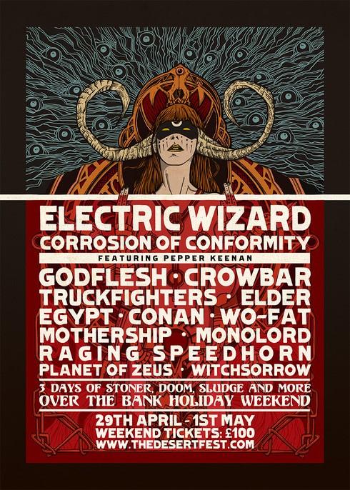 desertfest london 2016 poster