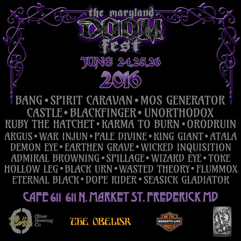 maryland doom fest 2016 lineup