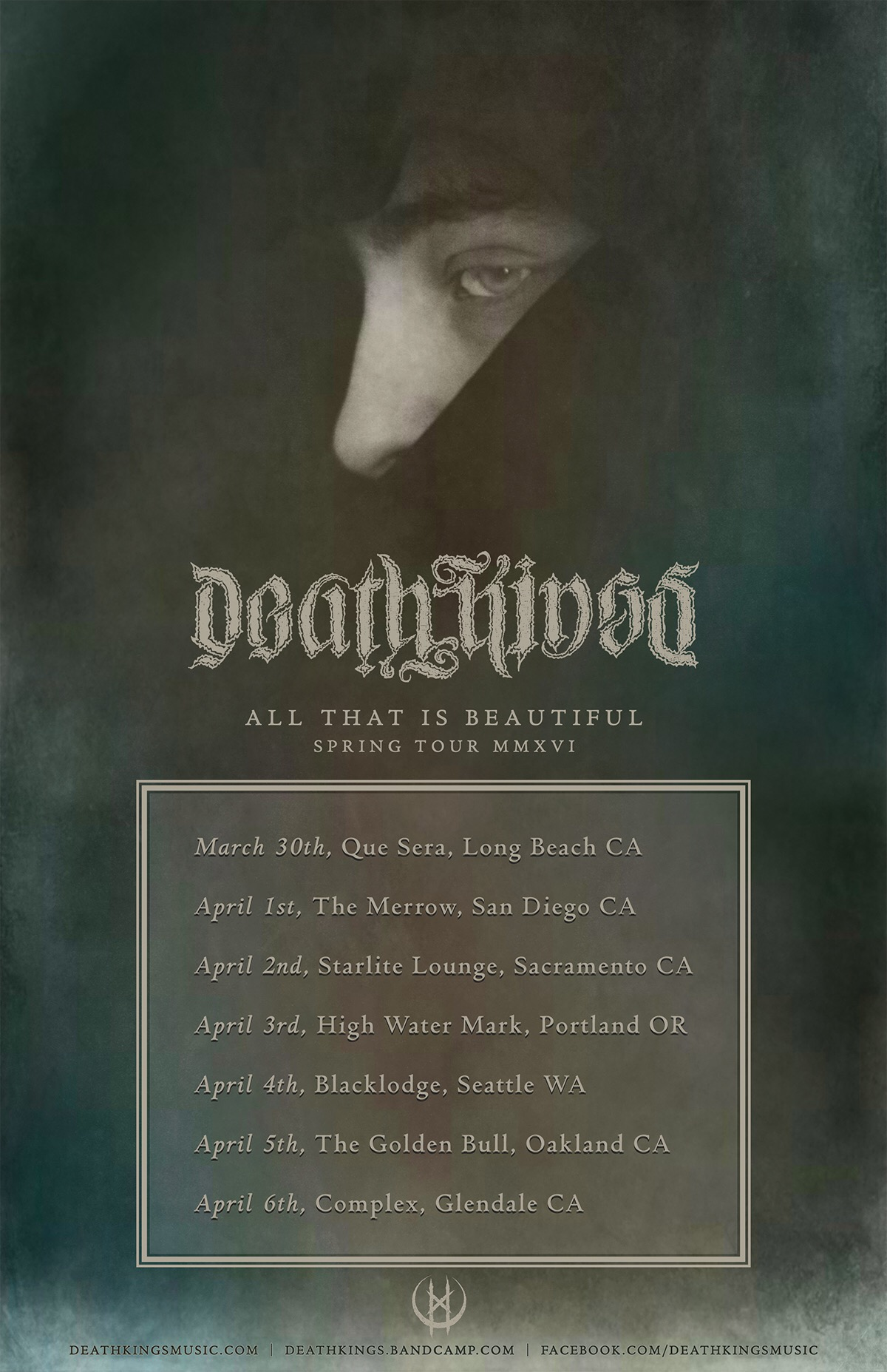 deathkings tour poster
