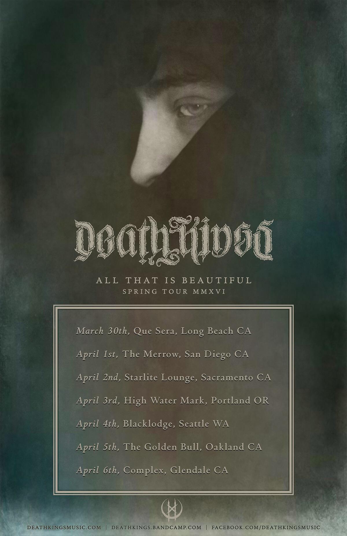 deathkings tour poster