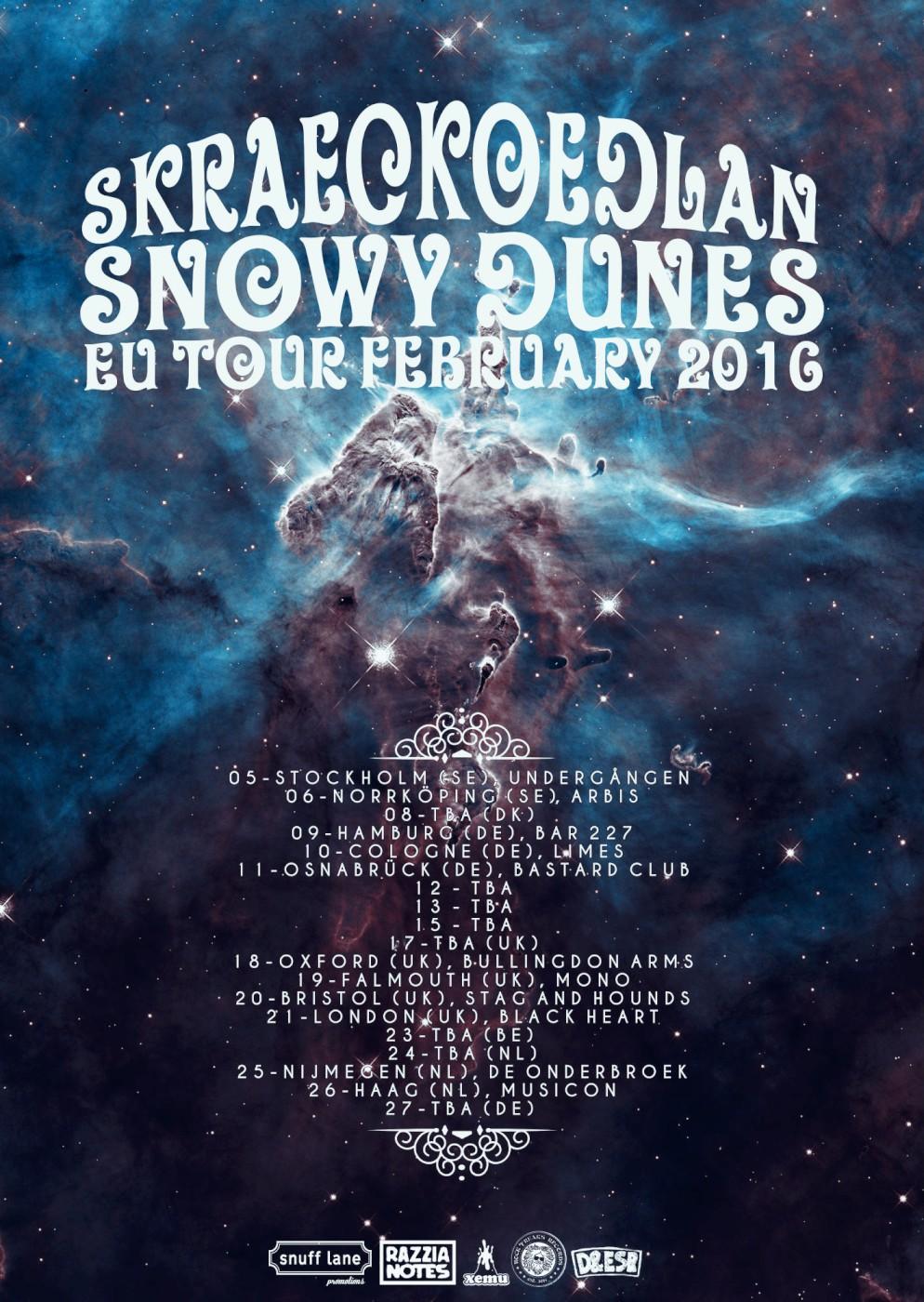 skraeckoedlan snowy dunes poster