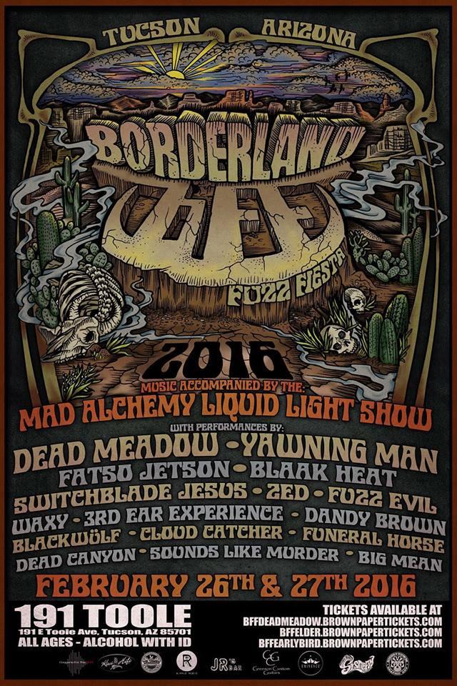 borderland fuzz fiesta final poster