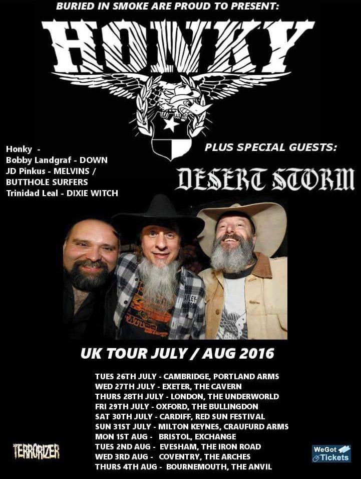 honky desert storm tour