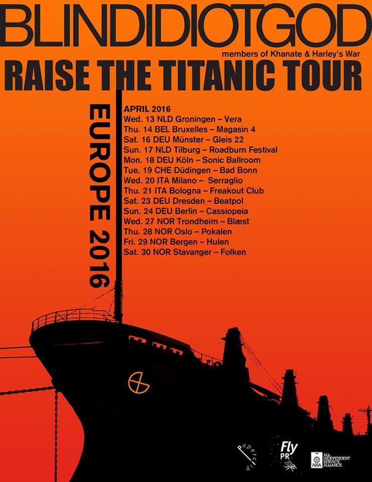 blind idiot god tour poster