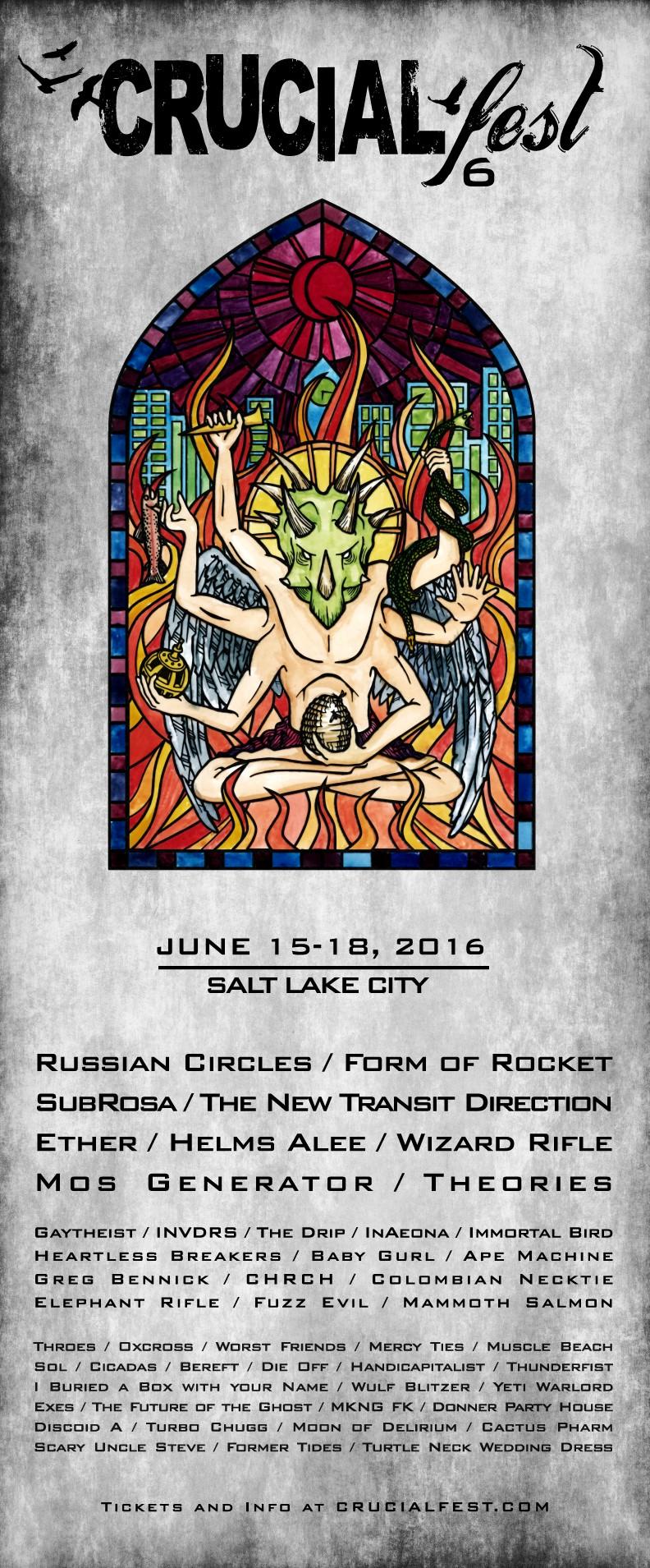 crucialfest 6 poster