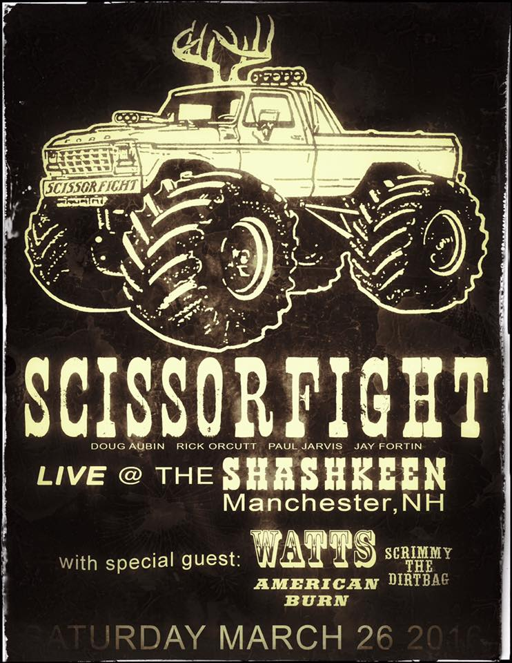 scissorfight first show back