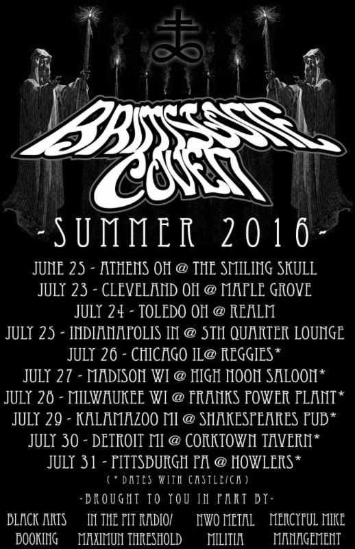 brimstone coven tour poster