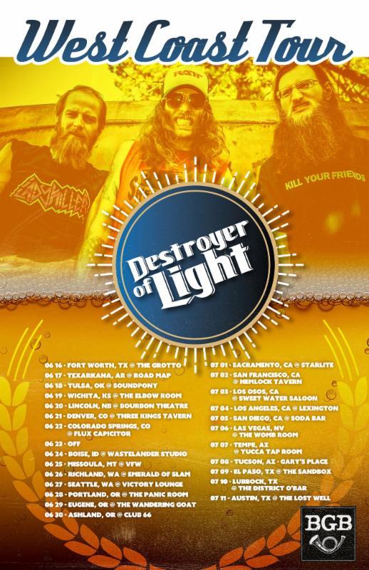 destroyer of light west coast tour
