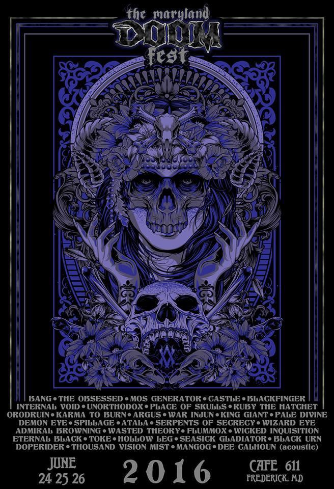 maryland doom fest 2016 poster