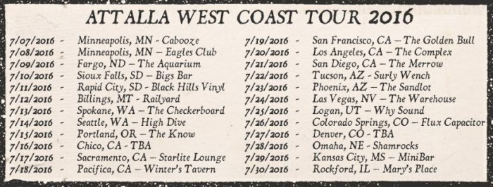 attalla west coast dates