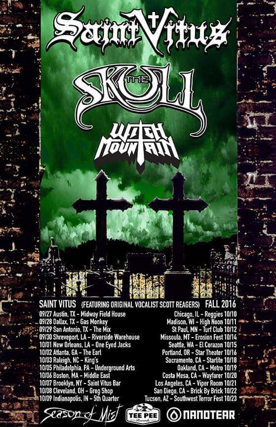 saint vitus the skull witch mountain tour