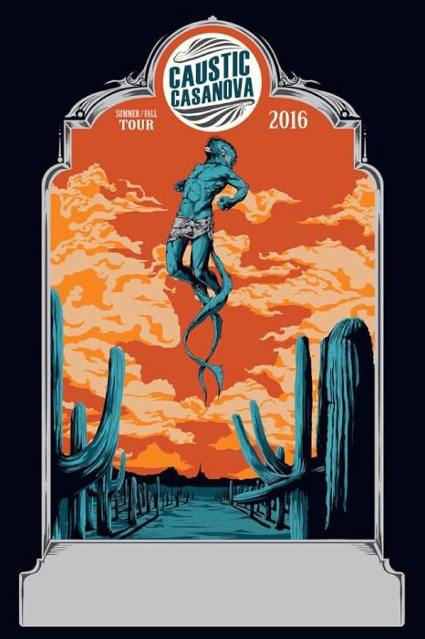 caustic casanova tour poster