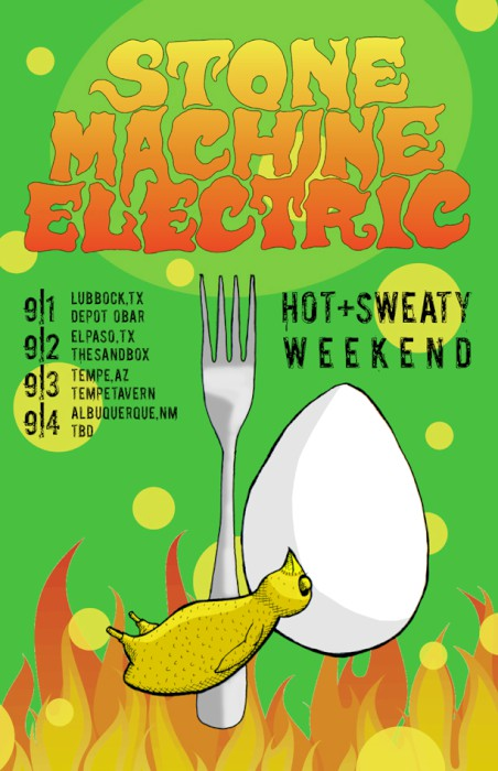 stone machine electric tour poster