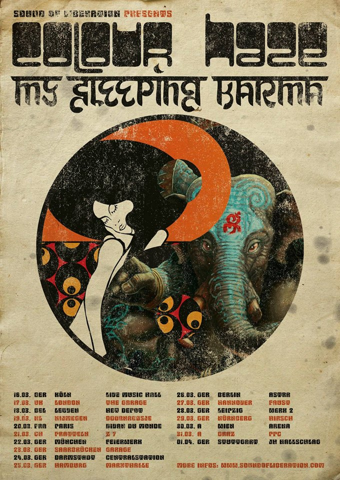 my sleeping karma colour haze tour dates