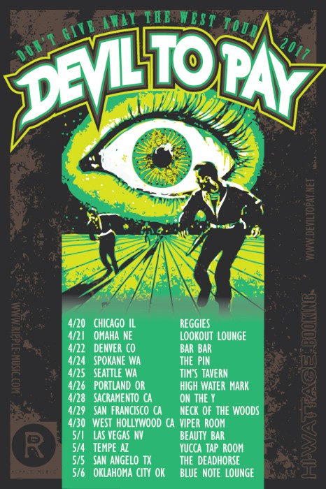 devil to pay tour poster