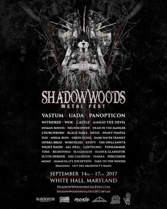 SHADOW WOODS METAL FEST 2017 poster