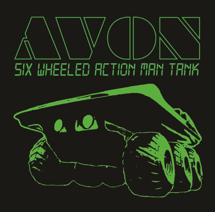 avon six wheeled action man tank