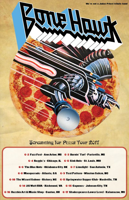 bonehawk screaming for pizza tour