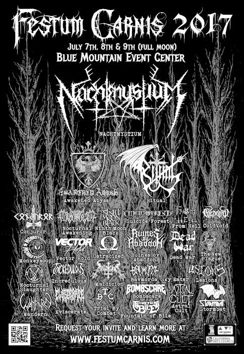 festum carnis 2017 lineup poster